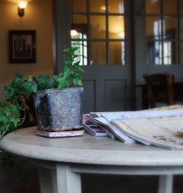 店内カフェスペースです。