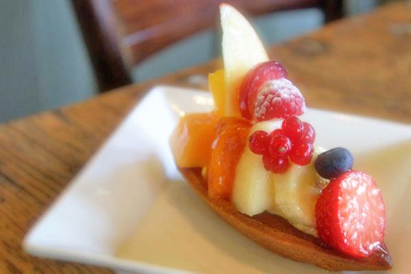 フルーツの味を生かしたさっぱりとしたタルト